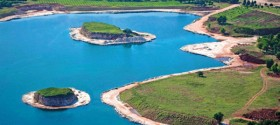 Pogled na ozelenjene površine, maslinove nasade i vodno dobro-rekreacijske površine
